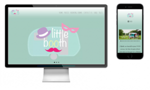 Little Booth web design RLC Words