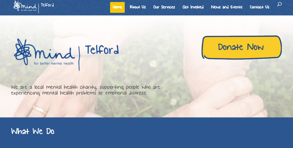 RLC Words Website for Telford Mind copywriter web design milton keynes